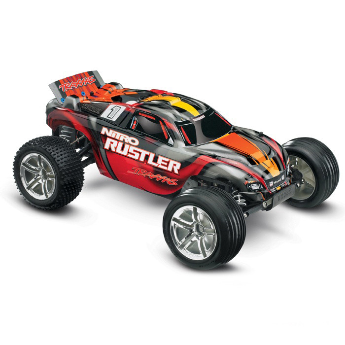 Автомобиль Traxxas Rustler 2,5 Nitro Stadium Truck 1:10 RTR 44094-1 SR