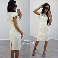 """Платье """"Париж"""". Ткань - кружево + креп костюмка. Длина 95 см. Размер С и М. (21231)"""