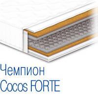 Ортопедический матрас на усиленном пружинном блоке и с кокосовой койрой Чемпион Cocos Forte