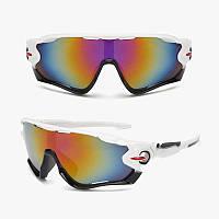 Отличные спортивные очки белого цвета с вентиляцией Han Meng