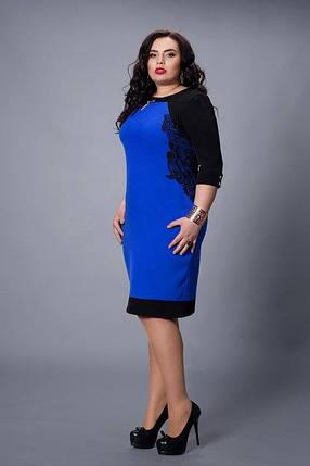 Элегантное нарядное недорогое летнее платье большого размера., фото 2
