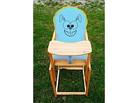 Детский стульчик для кормления Зайчик, голубой, BOC111596