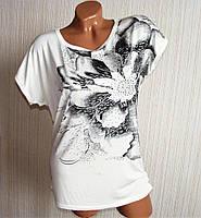 Красивые женские футболки. Цветок.