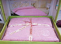 Бамбуковая простынь Турция розовый