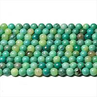 Настоящий Хризопраз, Натуральный камень, бусины 8 мм, Шар, Отверстие 1 мм, количество: 47-48 шт/нить
