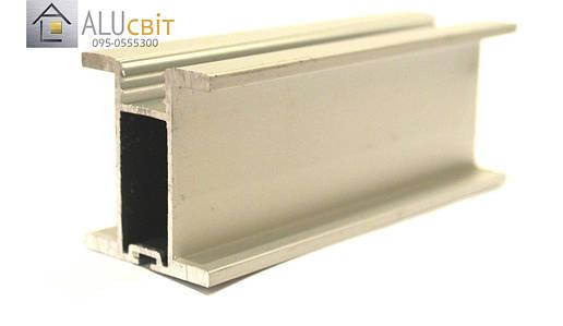 Вертикальный профиль SLIPP Н-40 серебро закрытый, фото 2