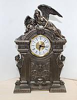 Каминные часы Veronese Ангелы 33 см 75241A1 с бронзовым покрытием