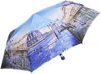Женский полуавтоматический зонт с ярким рисунком ZEST Z23625-23 Антиветер!