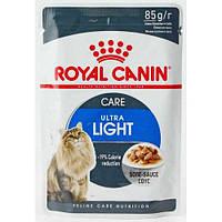 Royal Canin Ultra Light Care (кусочки в соусе) Консервы для кошек склонных к полноте 85 г