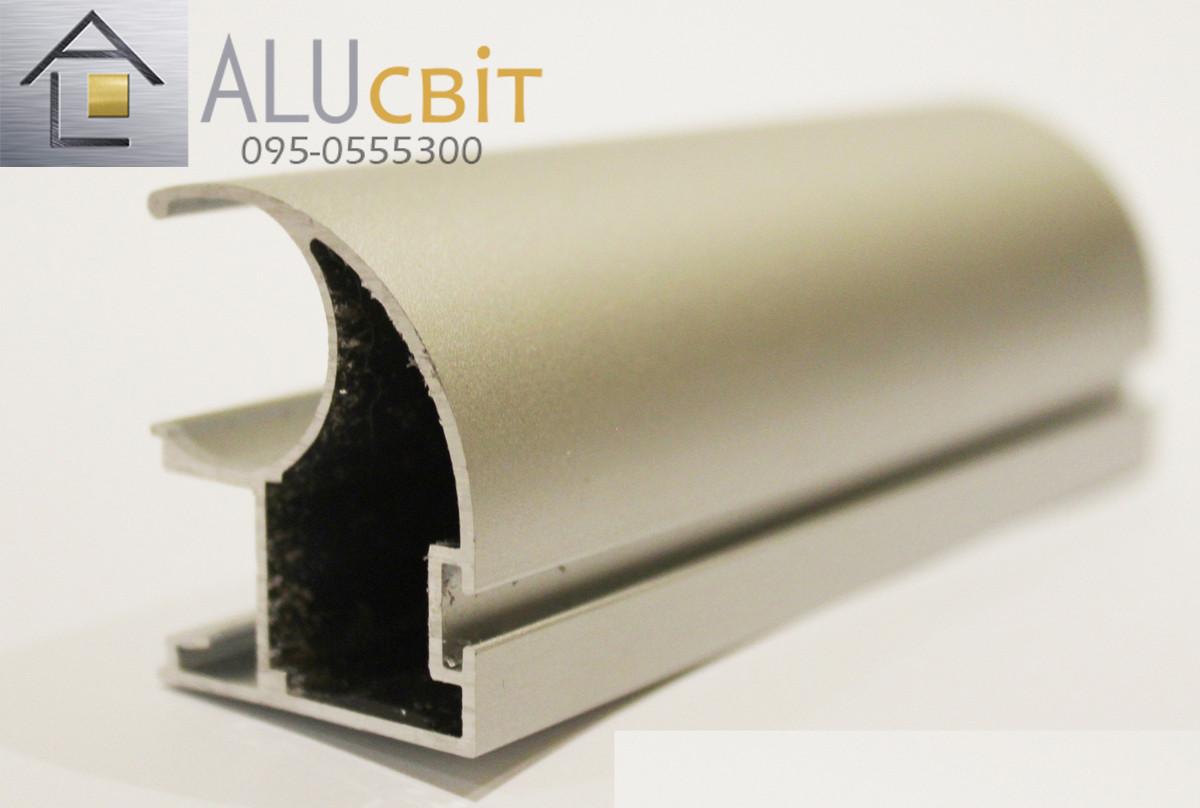 Вертикальный профиль SLIPP С-34 серебро открытый пас