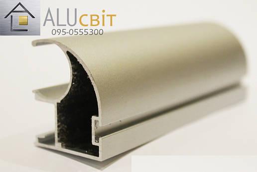 Вертикальный профиль SLIPP С-34 серебро открытый пас, фото 2
