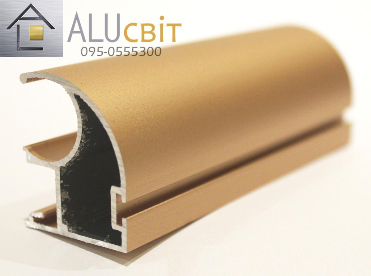 Вертикальный профиль SLIPP  С-34 розовое золото открытый