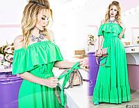 Шикарное платье в пол способно сделать Вас королевой вечера. Платье выполнено в сочных оттенках.