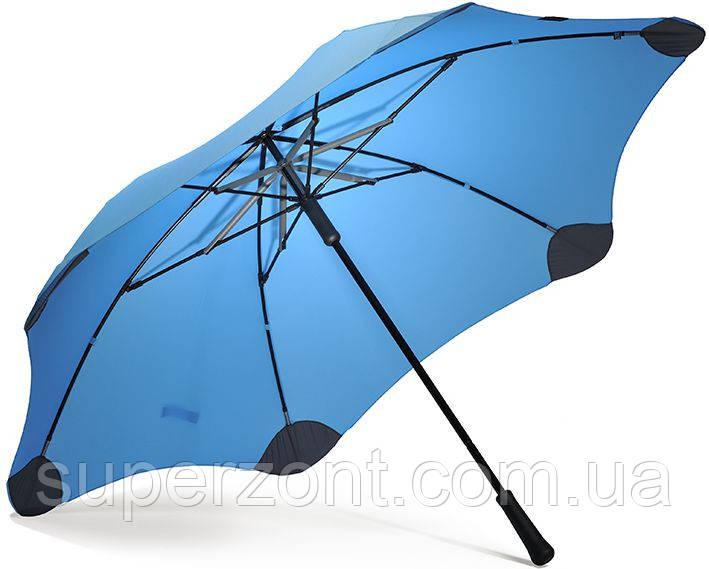 Противоштормовой зонт-трость с большим куполом механический BLUNT (БЛАНТ)  Bl-xl-2-blue