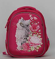 Каркасный ортопедический школьный рюкзак с котиком. Отличное качество. Доступная цена.  Код: КГ1379
