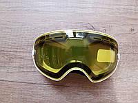 ДЕТСКАЯ горнолыжная маска с желтой линзой. Для детей/подростков до 15 лет.