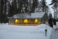 Отопление теплицы зимой твердотопливным пиролизным котлом DM-STELLA