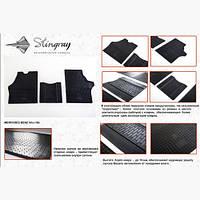 Коврики резиновые Stingray для авто Мерседес Вито W638 (3шт)