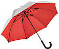 Женский зонт-трость полуавтомат двусторонний FARE (ФАРЕ) FARE7119-silver-red, фото 3