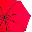 Женский зонт-трость полуавтомат двусторонний FARE (ФАРЕ) FARE7119-silver-red, фото 4