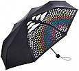 Женский механический компактный облегченный зонт FARE (ФАРЕ) с эффектом хамелеона FARE5042C-black, фото 4