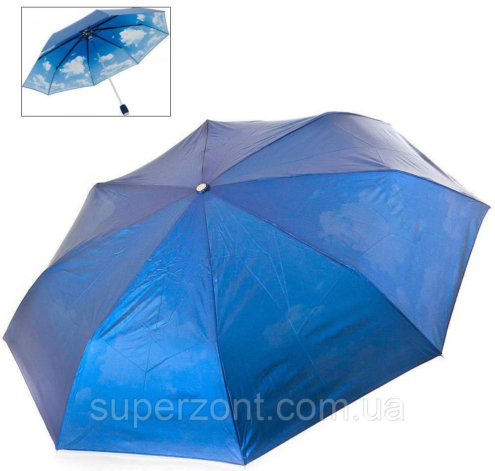 Женский механический двусторонний облегченный зонт FARE (ФАРЕ) FARE5783-oblaka Антиветер