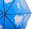 Женский механический двусторонний облегченный зонт FARE (ФАРЕ) FARE5783-oblaka Антиветер, фото 4