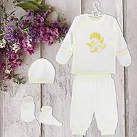Одежда для крестин, для новорожденных 62рост, 1848беж.Хлопок-интерлок,в наличии _62_68рост