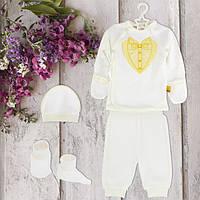Одежда для крестин, для мальчика 62рост, 1848беж.Хлопок-интерлок,в наличии _62_68рост