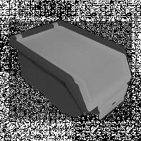 Ящик складской черный с прозрачной крышкой 175х110х75 мм
