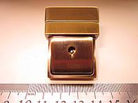 Замок клавишный, для портфеля, барсетки 35 х 45 мм антик
