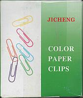 """Скрепки цветные """"Jicheng"""" 28 мм. 100 шт."""