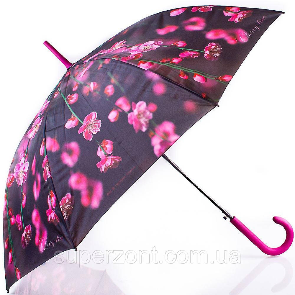 Лёгкий женский зонт-трость, полуавтомат ZEST (ЗЕСТ) Z21625-22