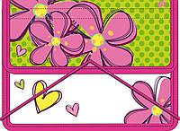 """Папка для тетрадей пласт. на резинке В5 """"Flowers"""" 491212"""