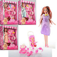 Кукла KX8800  беременная, 30см, пупс 5см, дочка 10см,бут,коляс,ходун,аксессуары