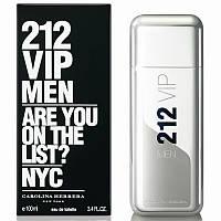 Мужская парфюмированная вода Carolina Herrera 212 VIP Men (черная коробка с белыми буквами) - 100 мл, фото 1