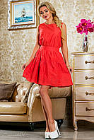 Батистовое коралловое платье 2260 Seventeen 42-48 размеры