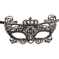 Карнавальная маска ажурная черного цвета