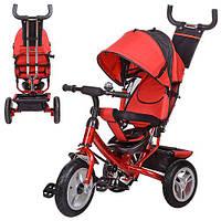 Велосипед M 3113-3A три кол.резина (12/10),колясочный,красный