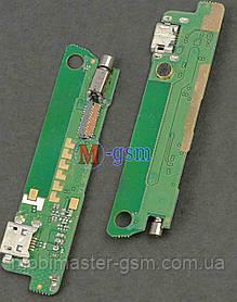 Плата с коннектором USB и микрофоном для Lenovo S660