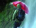 Крепкий складной механический зонт EuroSCHIRM Birdiepal Outdoor W208-CW7/SU17954 зеленый, фото 9