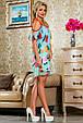 Красивое  летнее молодежное  платье 2245 бирюза, фото 2