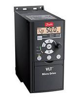 Частотный преобразователь Danfoss 0.37кВт 1-ф/220 ( 132F0002 )+панель управления