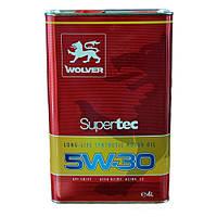 Синтетическое моторное масло WOLVER Supertec 5w30 4л SM/CF