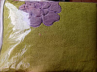 Плед из бамбука с вышивкой 200*220 зелёный