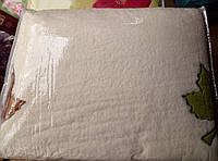 Плед из бамбука с вышивкой 200*220 молочный