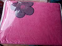 Плед из бамбука с вышивкой 200*220 розовый