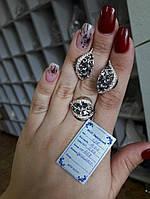 Шикарный гарнитур серьги и кольцо