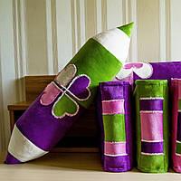 """Интерьерная декоративная подушка-валик """"Карандаш двухцветный"""""""