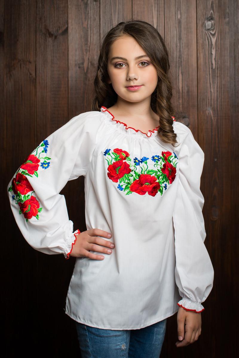 """Симпатичная детская блузка с вышивкой - Интернет-магазин одежды """"Duba"""" в Хмельницком"""